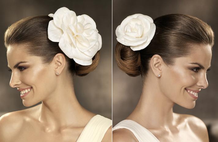 2012 acessórios do cabelo do casamento noivas penteados Pronovias 1