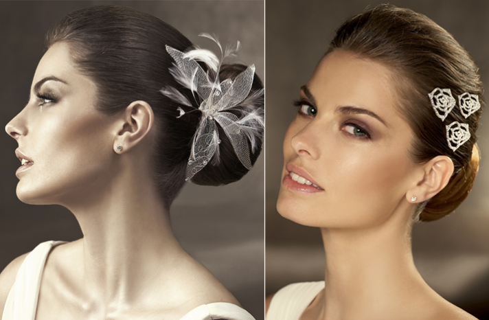 romantic wedding hairstyles 2012 bridal accessories pronovias