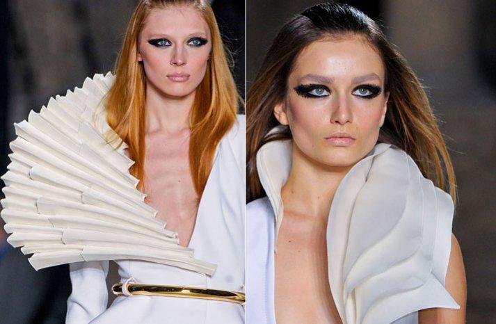 dramatic eyes wedding hair makeup spring 2012 couture inspiration