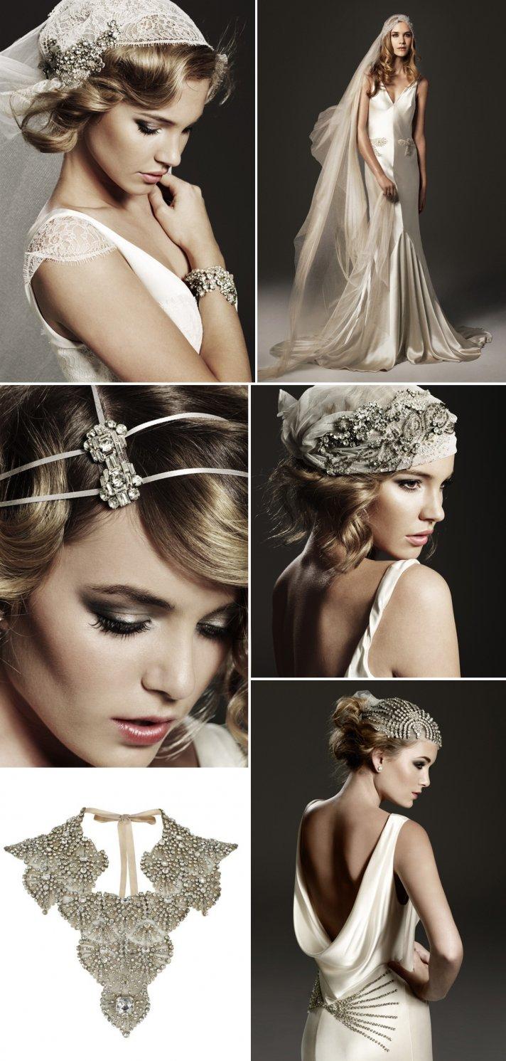 vintage inspired bridal hair accessories wedding jewelry