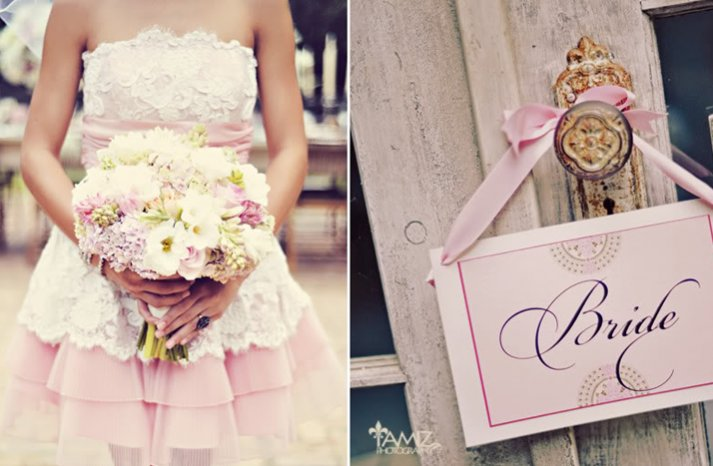 pink gold wedding inspiration romantic bridal style valentines day