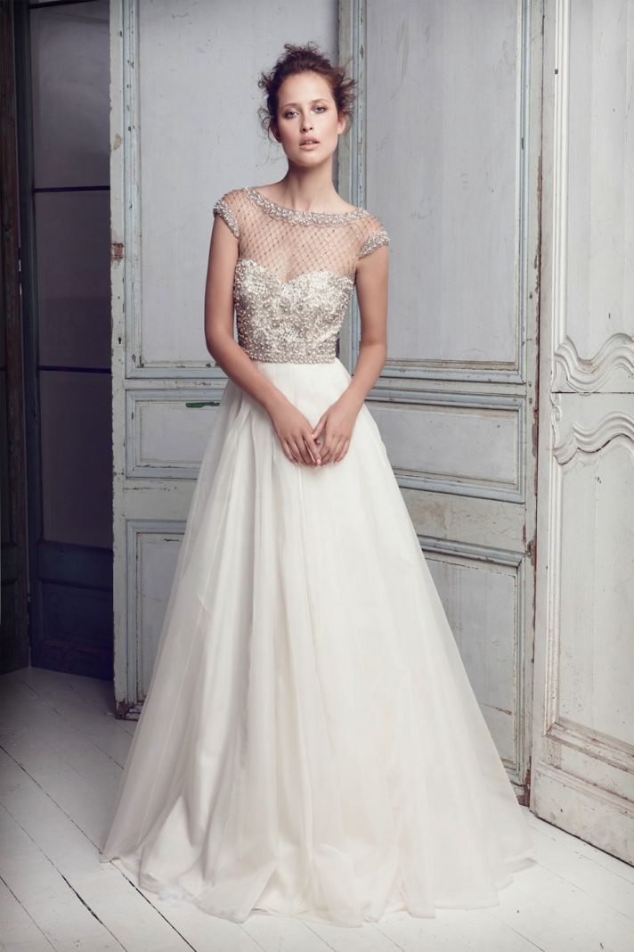 Fall in love with collette dinnigan bridal onewed for Picture of a wedding dress