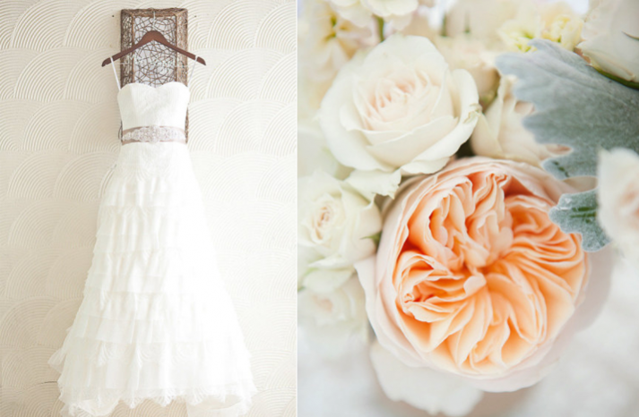 Ethereal Wedding with a Peach and Ivory Palette