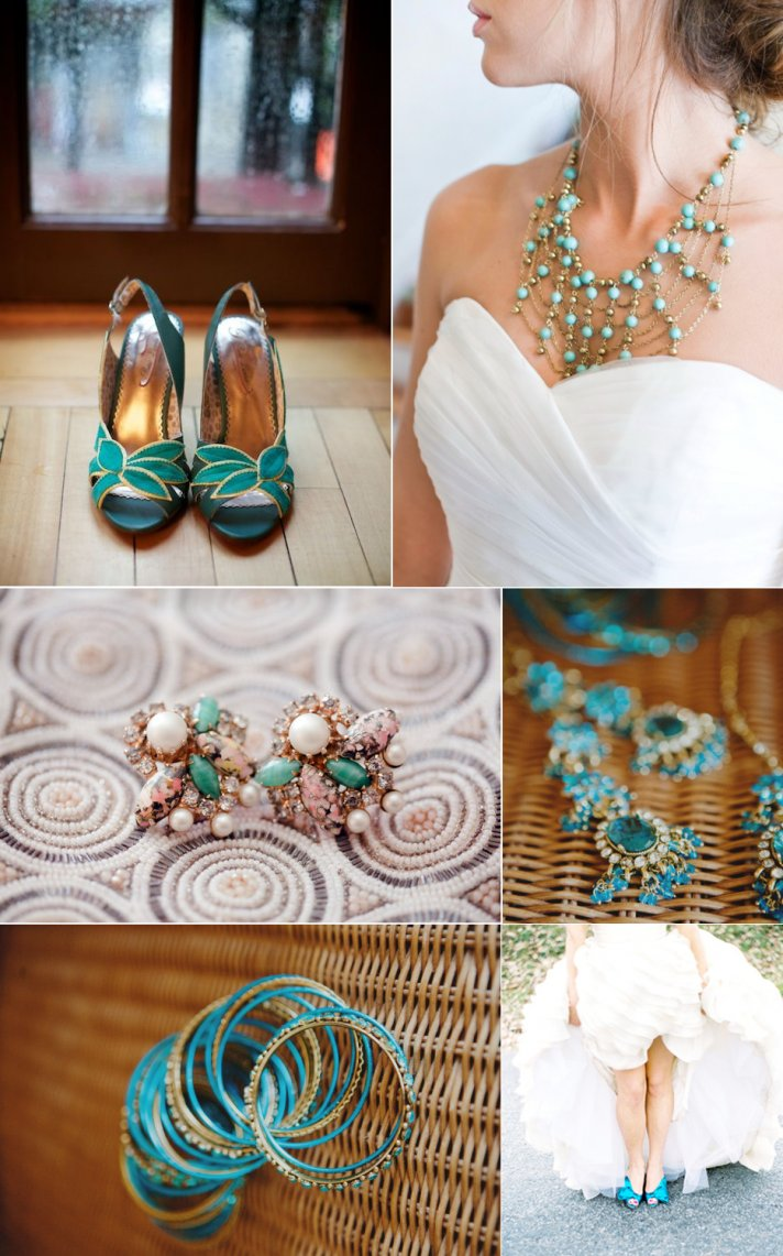 brides something blue turquoise wedding jewelry bridal heels