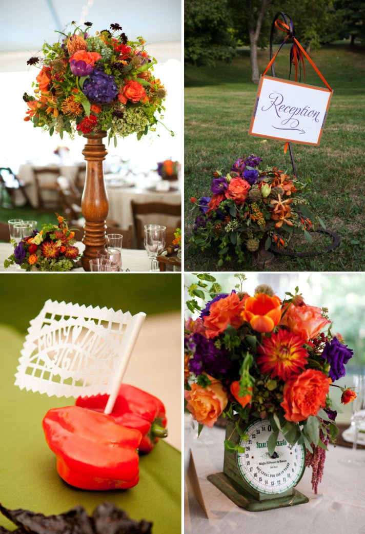 Ring In A Spicy Hot Palette Of Colors That Go With Orange: Spice Up Your Wedding Color Palette With Tangerine Tango