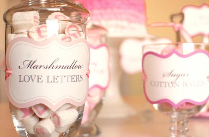 valentines day wedding ideas DIY favors pink