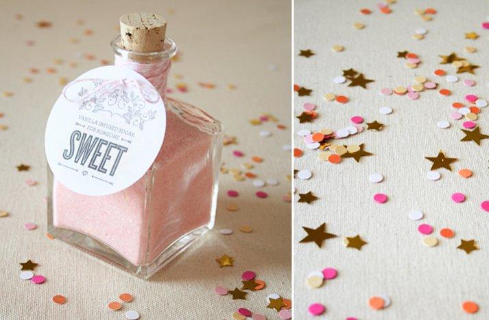 DIY wedding favors romantic love themed