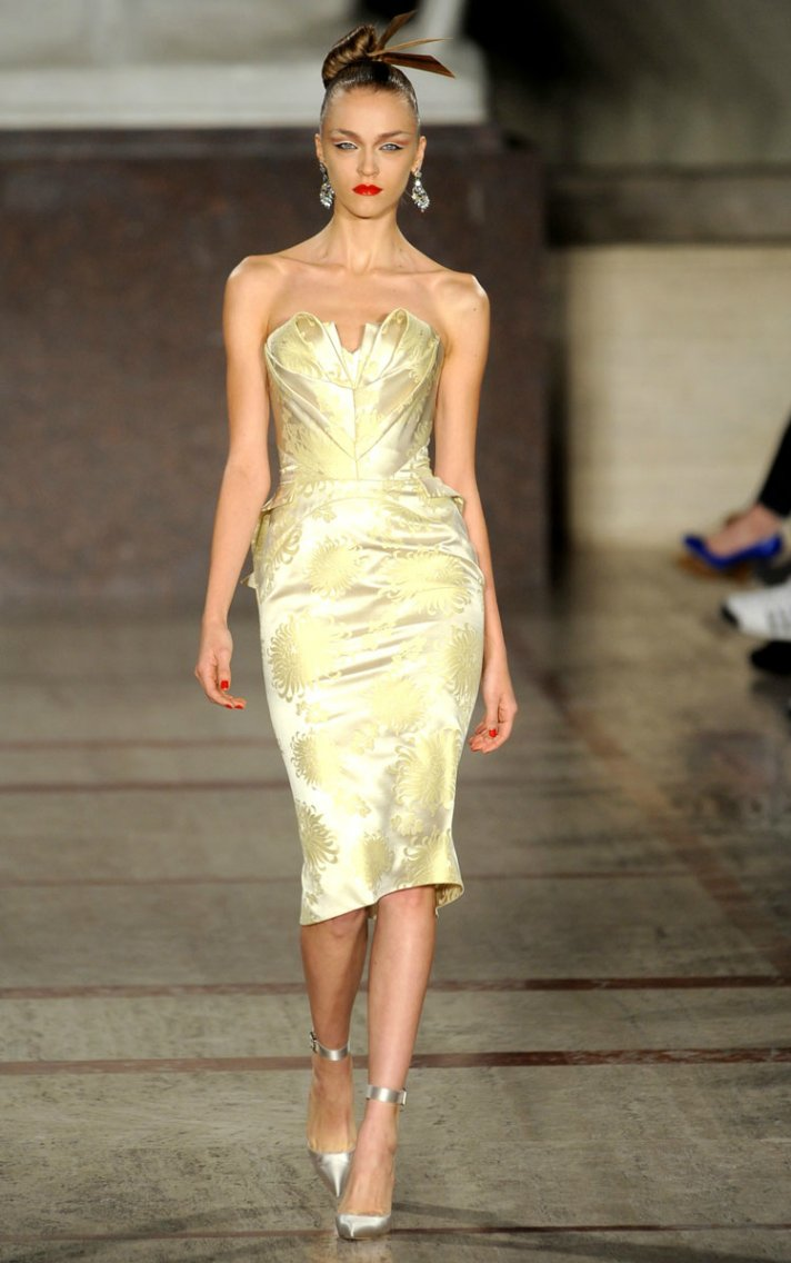 zac posen wedding reception dress fall 2012 RTW