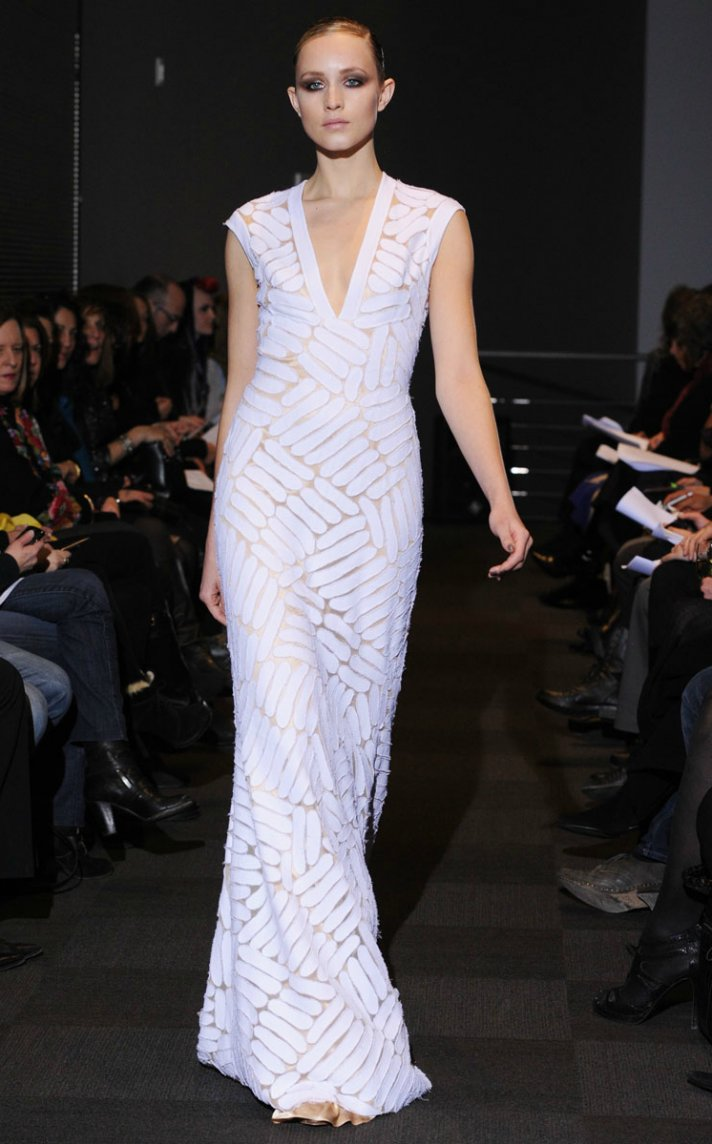 carmen marc valvo fall 2012 RTW wedding dress mermaid