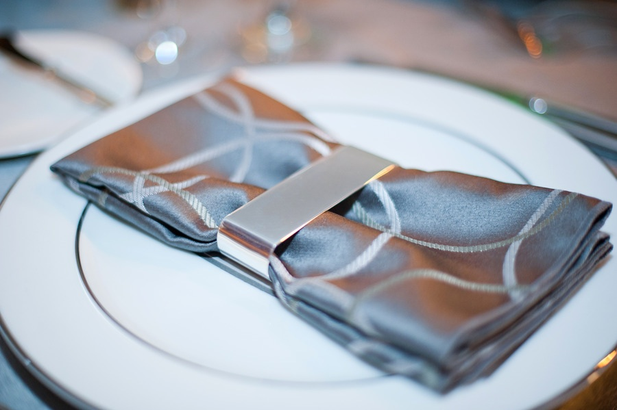 ice blue silver wedding colors reception table details