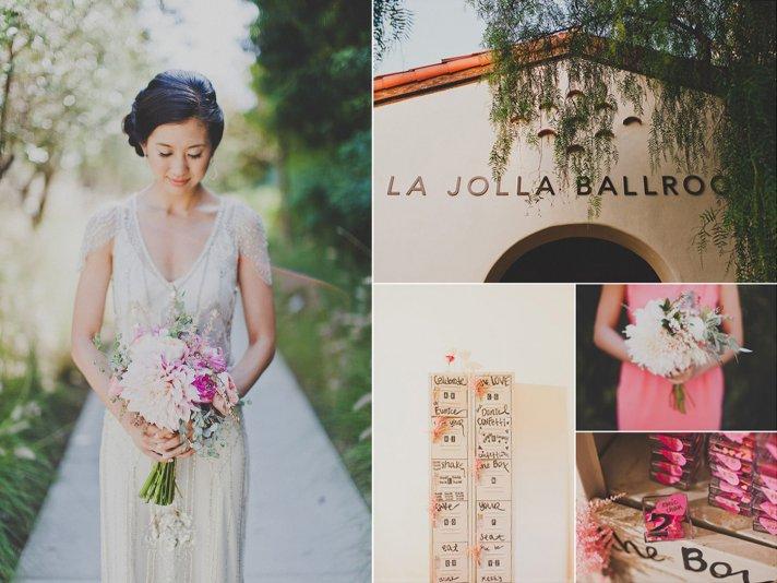 romantic bride california wedding outdoors pink bridal bouquet