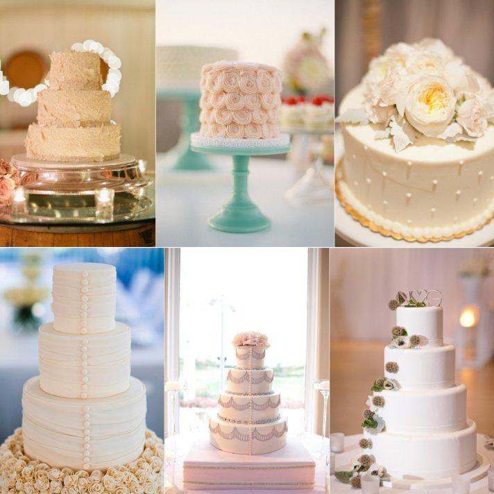 Elegant wedding cakes for a neutral wedding color palette