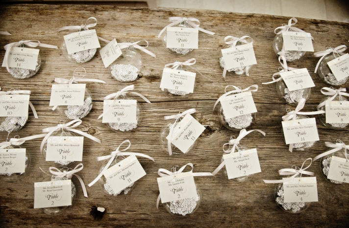 neutral wedding colors escort card display at wedding reception