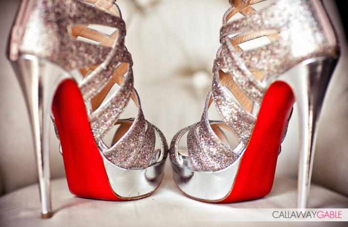 high wedding shoes louboutins silver