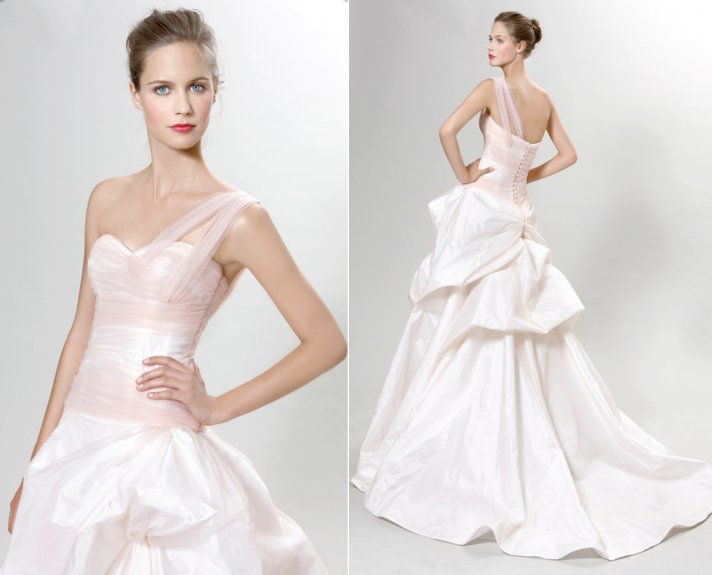 2012 wedding dress trends pink bridal gowns peter langner vienna