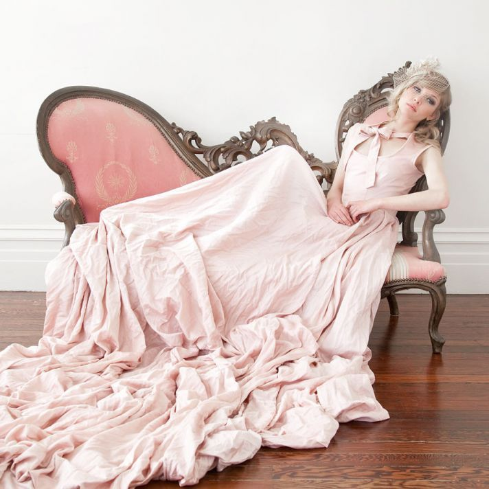 romantic pink wedding dress full