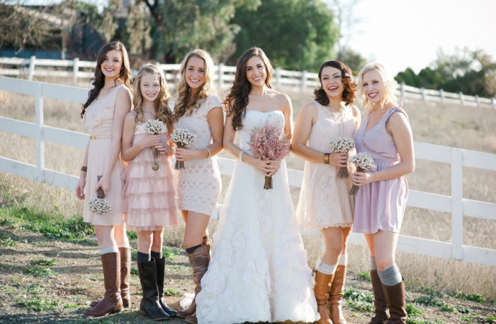 country western bridesmaids
