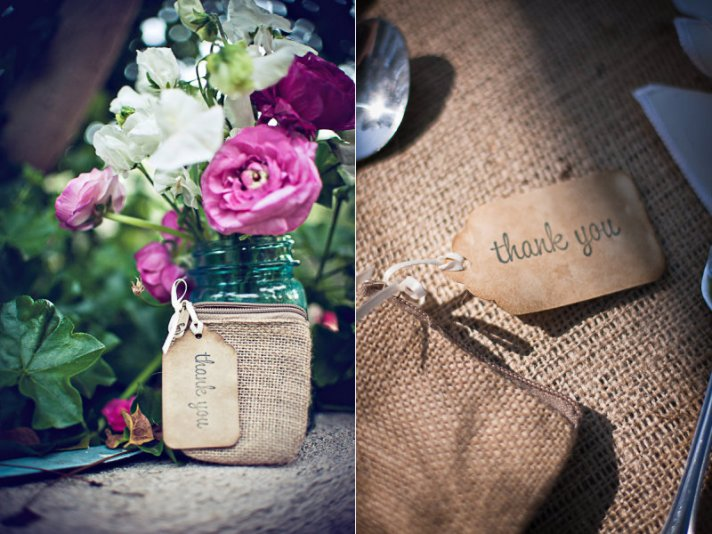 Burlap decor for your rustic chic wedding onewed - Decorating ideas using burlap ...