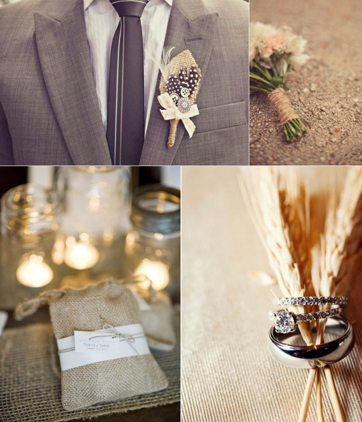 Burlap Decor For Your Rustic Chic Wedding