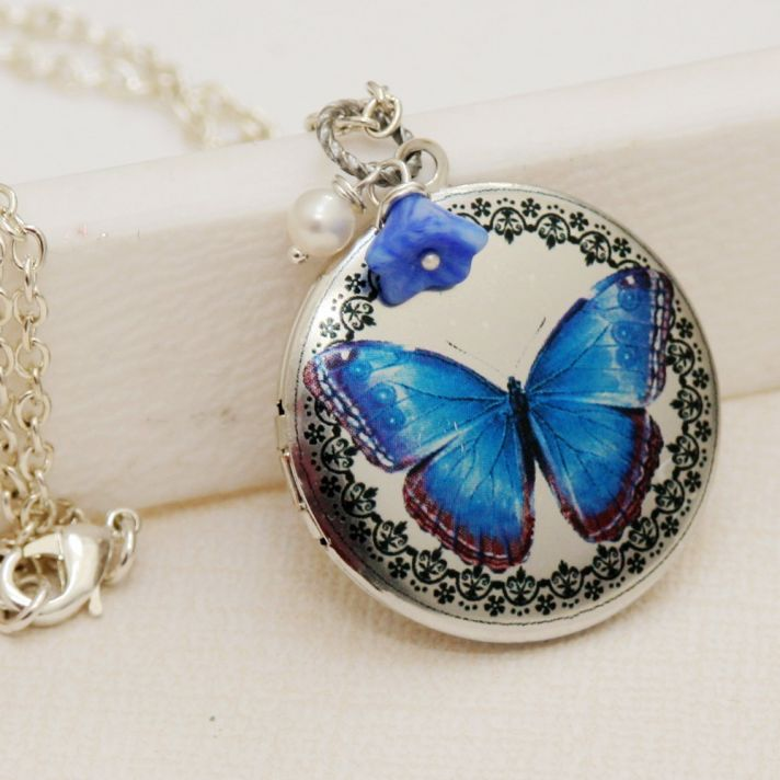 bridal style wedding ideas something blue etsy locket