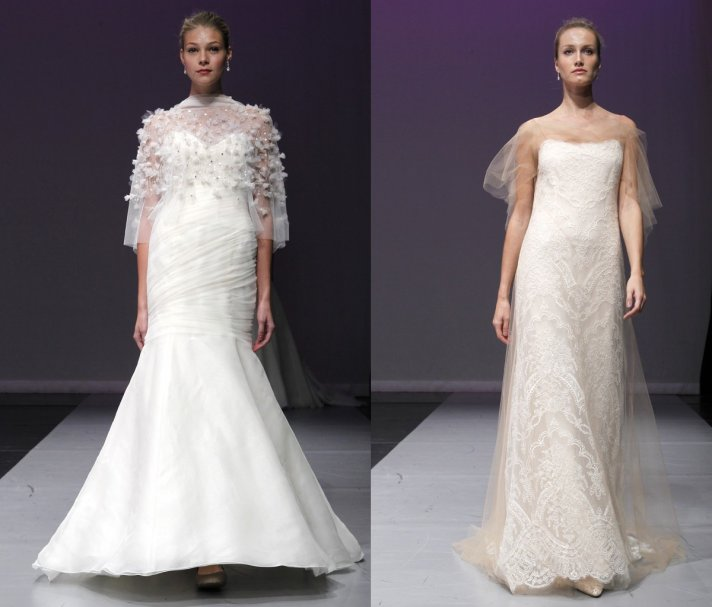 rivini 2012 wedding dresses with bridal capes