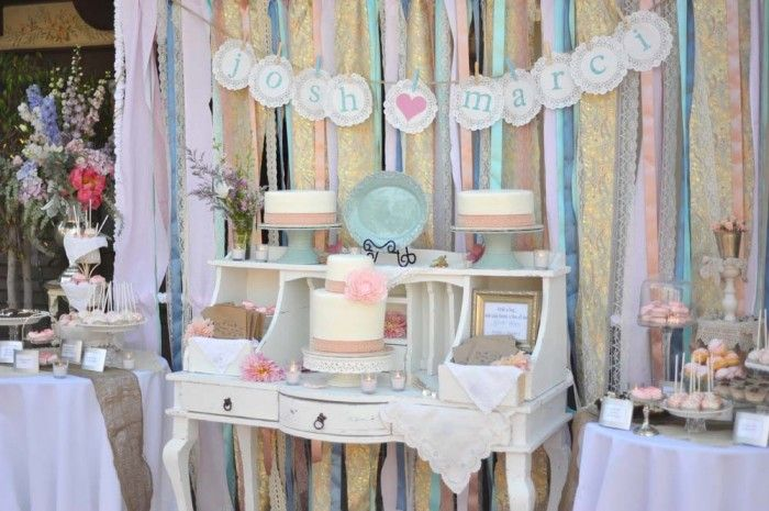 Five Ribbon Backdrop Ideas for your DIY Wedding | OneWed