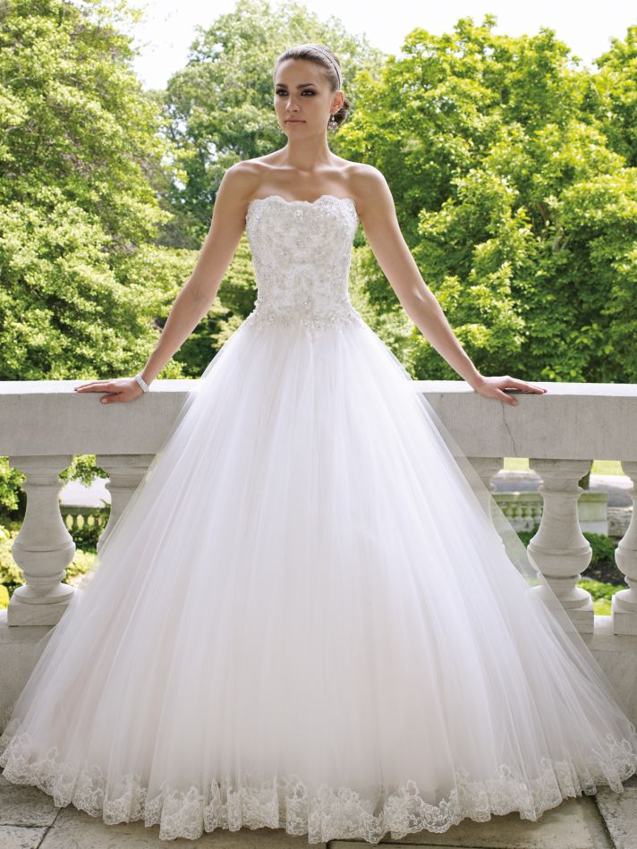 Wedding gowns with pearls unusual wedding invitations for David tutera beach wedding dresses