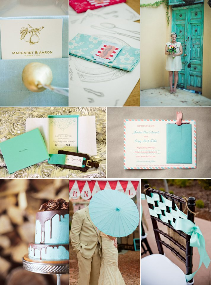 A modern take on a mint green wedding
