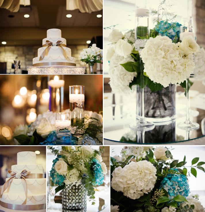 ivory hydrangea wedding reception centerpieces elegant ivory wedding cake