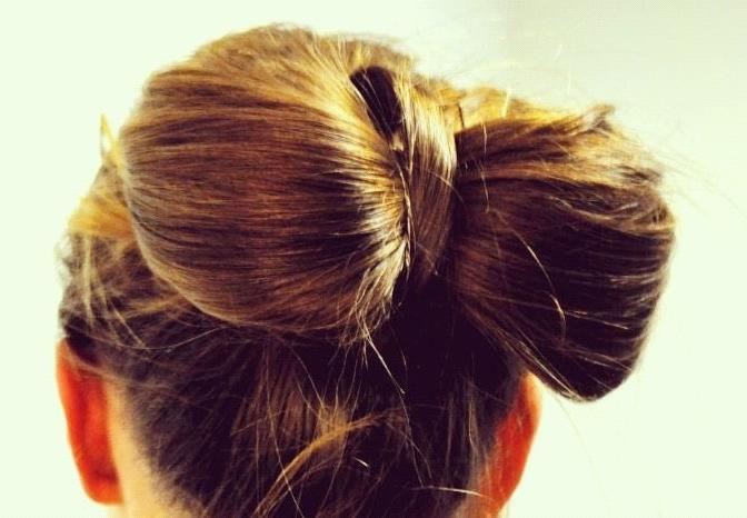bow bun bridal updo wedding hair tutorial