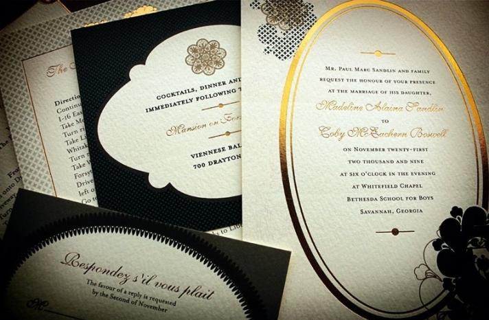 crush worthy wedding invitations black gold
