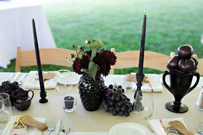 grape wedding centerpieces