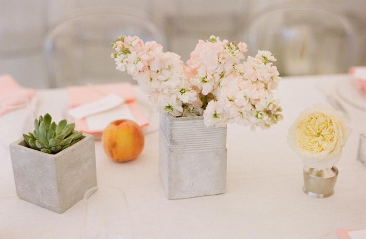 elegant real wedding outdoor reception under tent simple wedding flower centerpieces