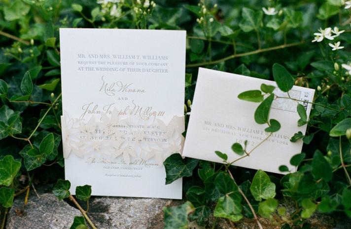 elegant real wedding outdoor reception under tent romantic wedding invites