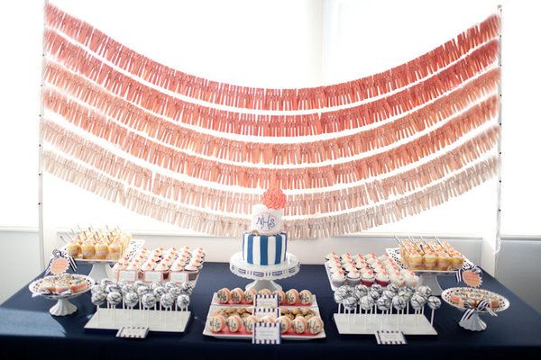 ombre wedding reception banner