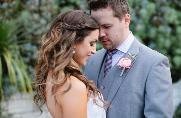 romantic wedding hairstyle enchanted garden wedding