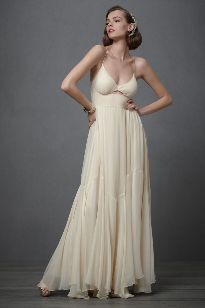 deep ivory wedding dress 2012 bridal gowns BHLDN