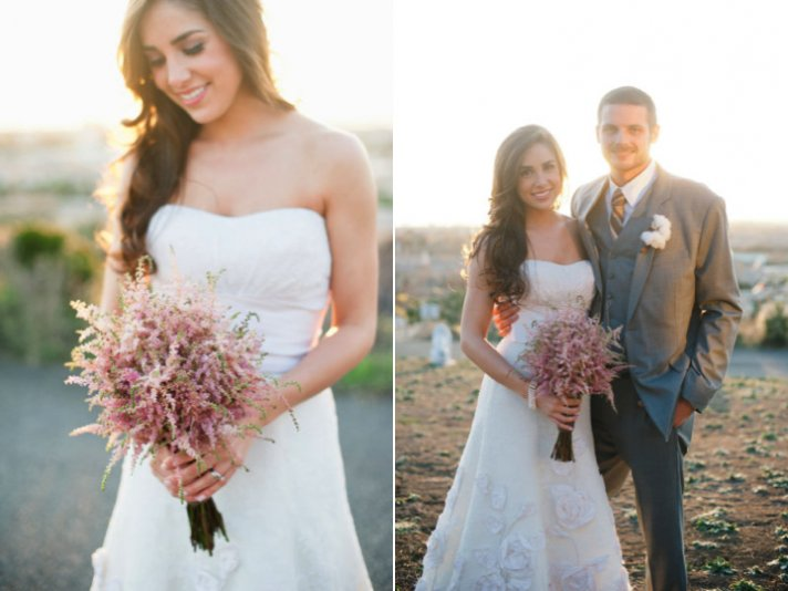 Astilbe bridal bouquet for spring weddings