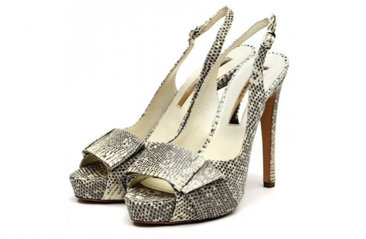 funky wedding shoes black white snakeskin