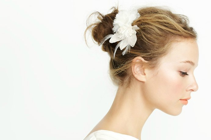 summer 2012 wedding hair accessories bridal hair flower j crew