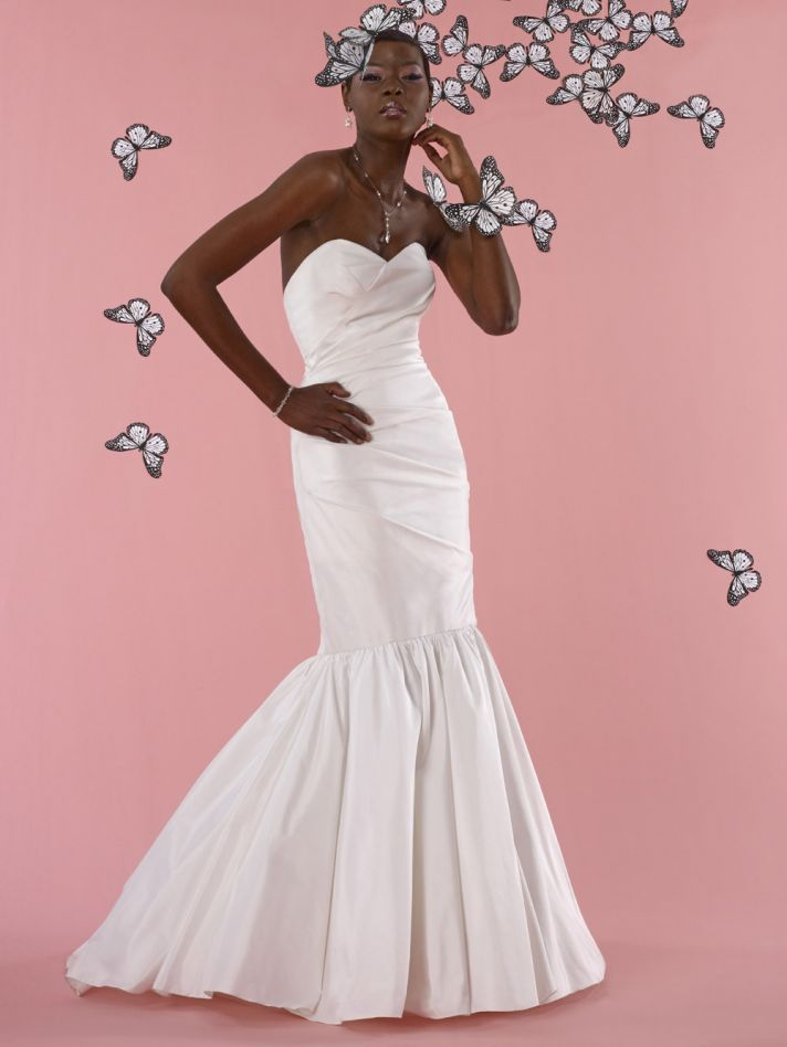 vintage inspired wedding dress 2012 bridal gowns steven birnbaum collection Crystal