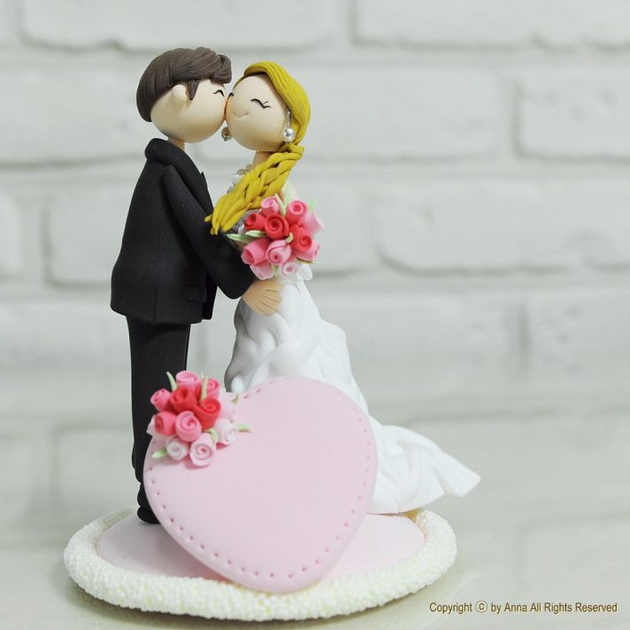 Cute Clay Designs Cute Clay Wedding Cake Topper