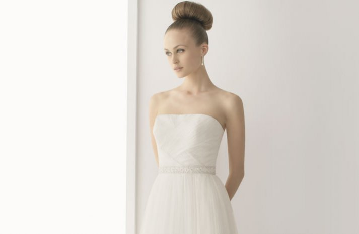 romantic lace wedding dress 2012 bridal gowns soft by rosa clara strapless modified a line