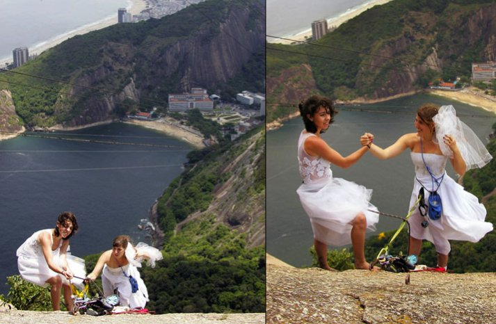 wacky wedding photos weird crazy weddings friday the hiking brides