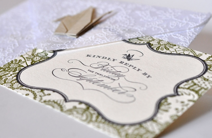 unforgettable wedding invitations New York wedding theme letterpress 2