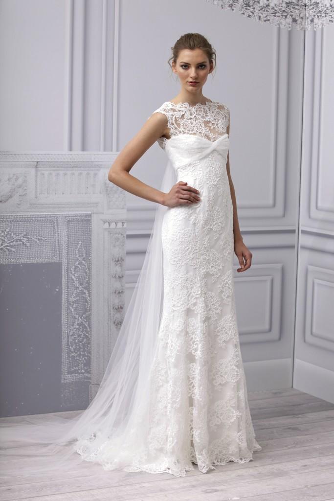 Spring 2013 wedding dress Monique Lhuillier bridal gown modified mermaid