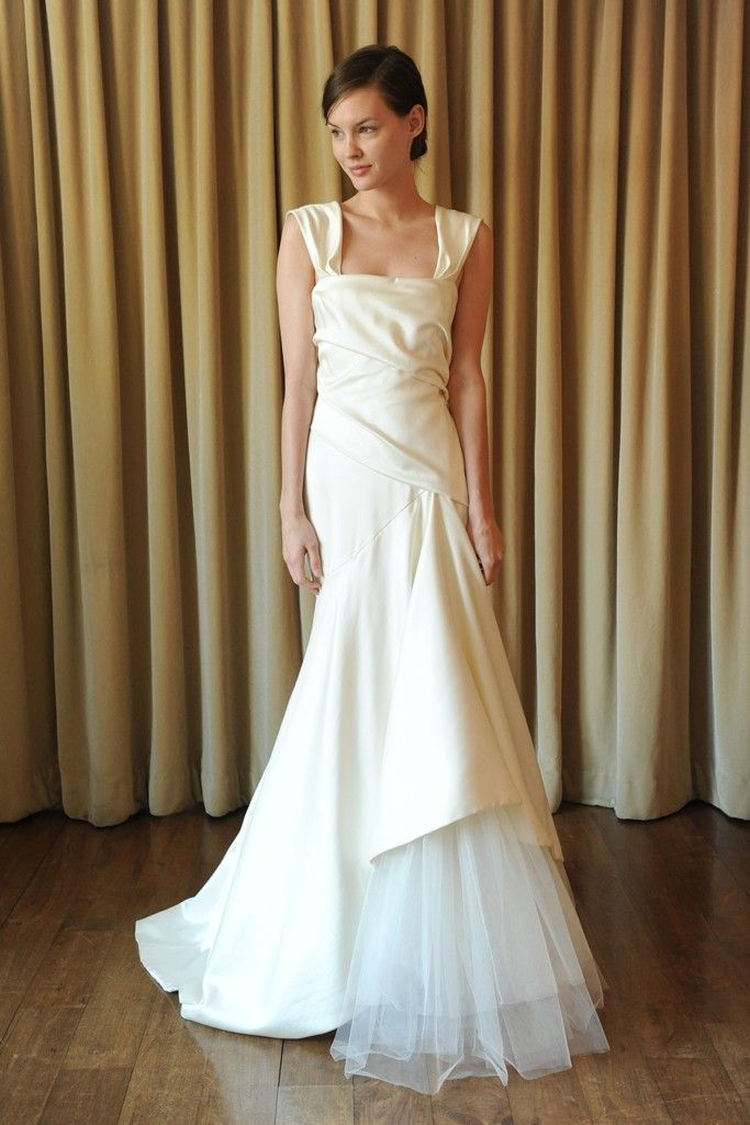 2 Tone Wedding Gowns : Spring bridal trend two tone dresses onewed