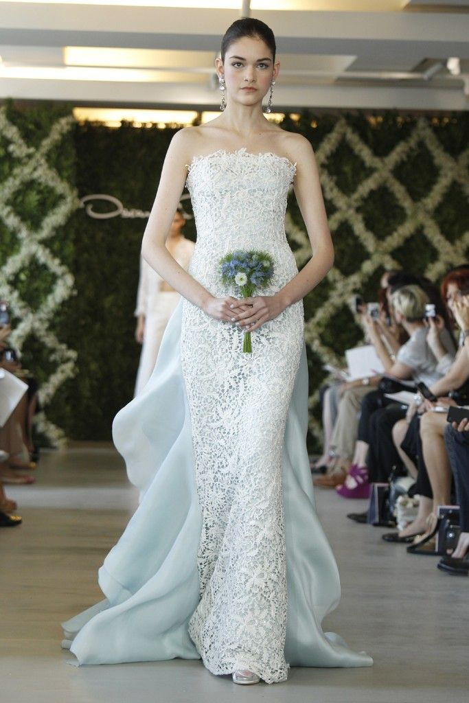 Spring 2013 bridal trend two tone dresses for Lace wedding dress overlay