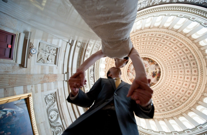 wedding photos photojournalism photography bride groom venue from below