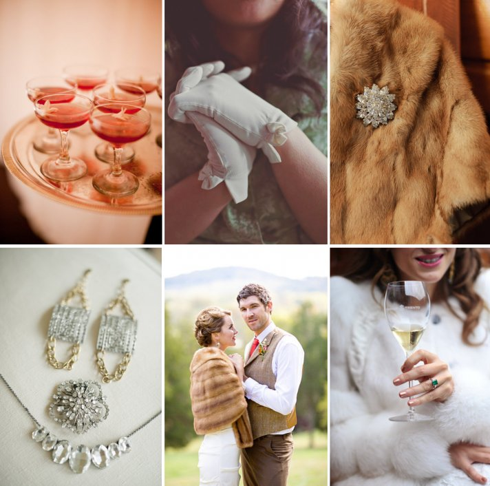 Mad Men vintage-style wedding theme- bridal accessories